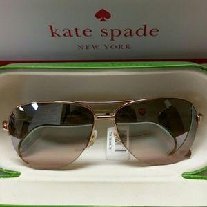 Kate Spade Bethann Sunglasses (Rose Gold)